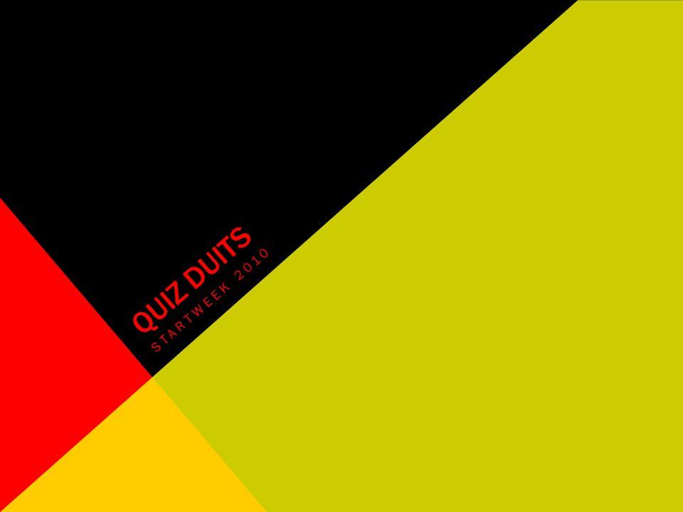 QUIZ DUITS STARTWEEK 2010