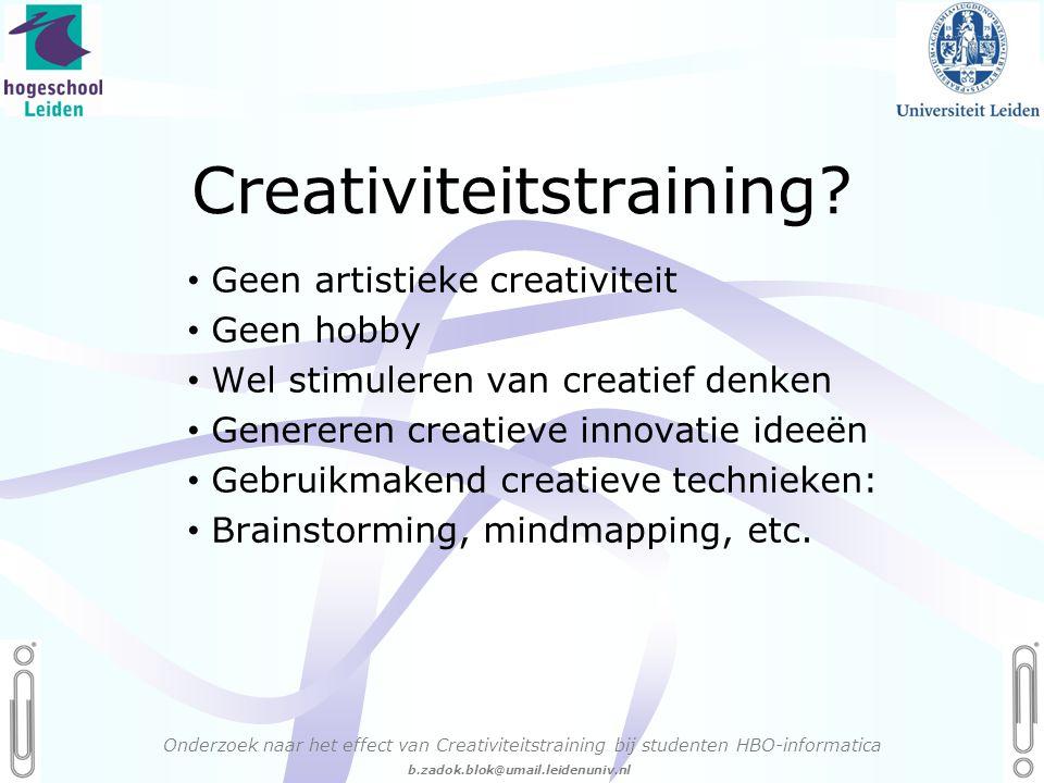06 - 54.21.29.36 Creëren, mijn Passie! b.zadok.blok@umail.leidenuniv.nl Creativiteitstraining.