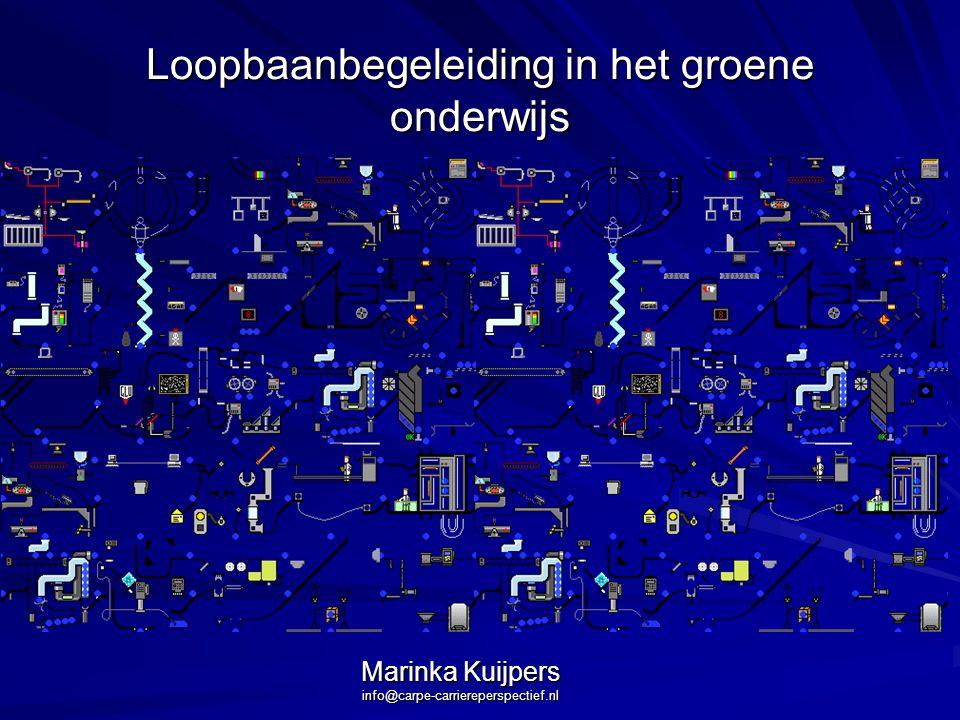Loopbaanbegeleiding in het groene onderwijs Marinka Kuijpers info@carpe-carriereperspectief.nl