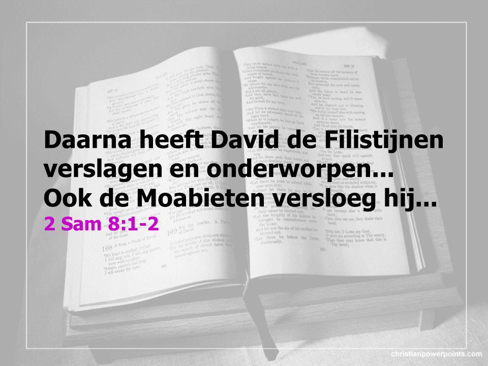 Daarna heeft David de Filistijnen verslagen en onderworpen...