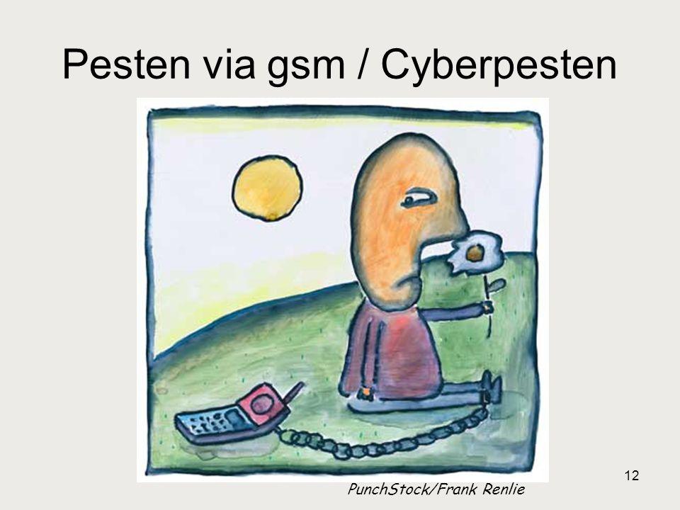 12 Pesten via gsm / Cyberpesten PunchStock/Frank Renlie