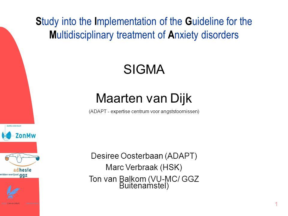 2 Het onderzoek Het betreft een implementatiestudie (18 behandelaren; 200 patiënten) Het gaat om een programma-evaluatie De behandelresultaten worden vergeleken met andere centra (NESDA) De dataverzameling loopt nog; vandaag dus nog geen presentatie van de definitieve uitkomsten!
