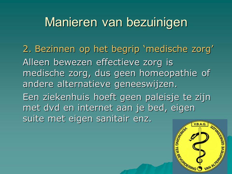 Manieren van bezuinigen 2.