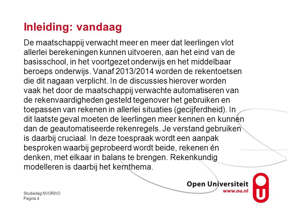 Rekenkundig modelleren: een voorbeeld In een plaats moet er 1,5 km gasleiding worden aangelegd.