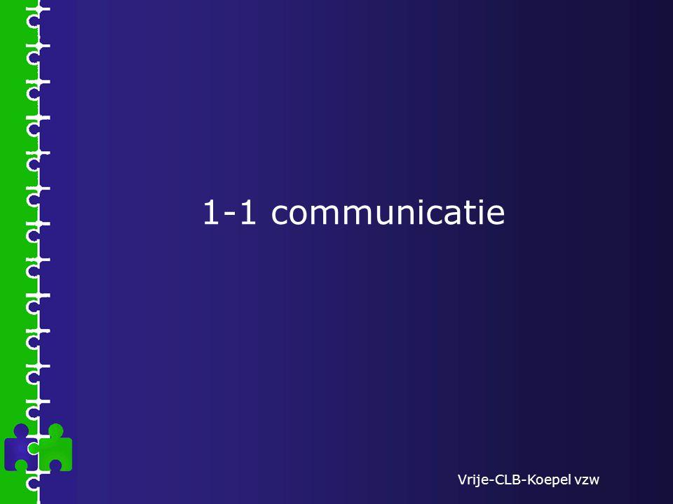 Vrije-CLB-Koepel vzw 1-1 communicatie
