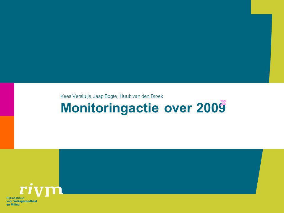 Monitoringactie over 2009 Kees Versluijs, Jaap Bogte, Huub van den Broek