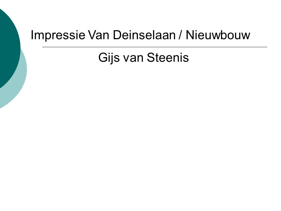 Impressie Van Deinselaan / Nieuwbouw Gijs van Steenis