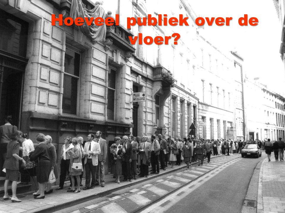 Hoeveel publiek over de vloer?