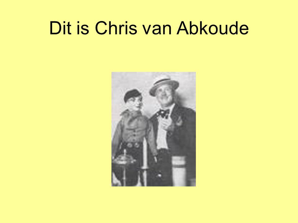 Dit is Chris van Abkoude