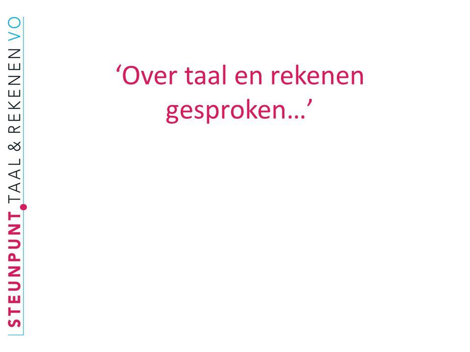 'Over taal en rekenen gesproken…' Amsterdams Lyceum, 16 september 2010