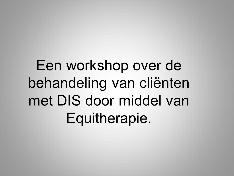 Een workshop over de behandeling van cliënten met DIS door middel van Equitherapie.