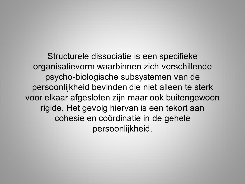 Structurele dissociatie is een specifieke organisatievorm waarbinnen zich verschillende psycho-biologische subsystemen van de persoonlijkheid bevinden