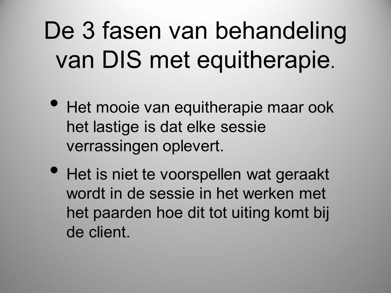 • Het mooie van equitherapie maar ook het lastige is dat elke sessie verrassingen oplevert. • Het is niet te voorspellen wat geraakt wordt in de sessi