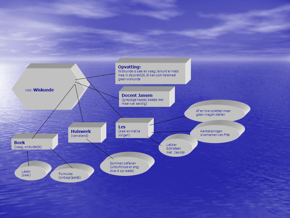 VAK: Wiskunde Opvatting: Wiskunde is saai en vaag.