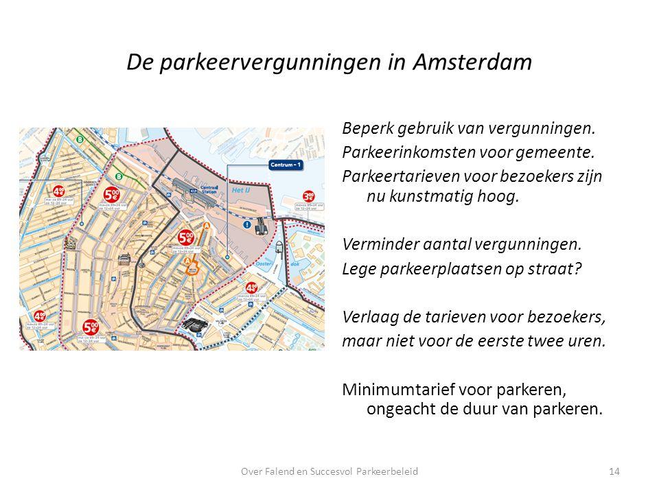 De parkeervergunningen in Amsterdam Beperk gebruik van vergunningen.