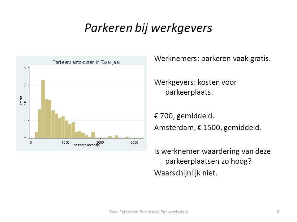 Nivellerend inkomensbeleid.Autobezit stijgt met inkomen: 11% met elke extra € 10.000 per jaar.