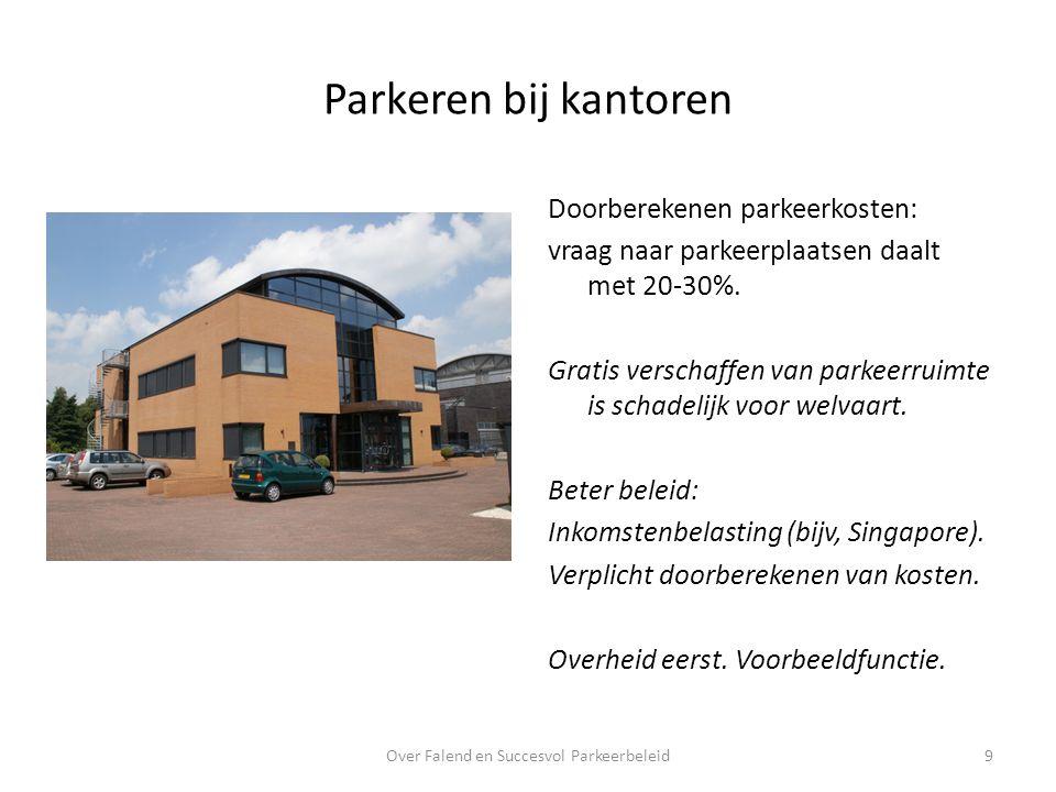Parkeren bij kantoren Doorberekenen parkeerkosten: vraag naar parkeerplaatsen daalt met 20-30%.