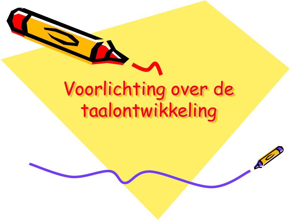Voorlichting over de taalontwikkeling