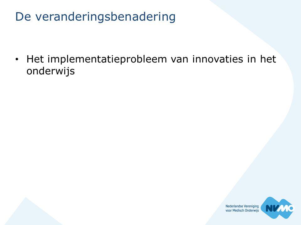 De veranderingsbenadering • Het implementatieprobleem van innovaties in het onderwijs