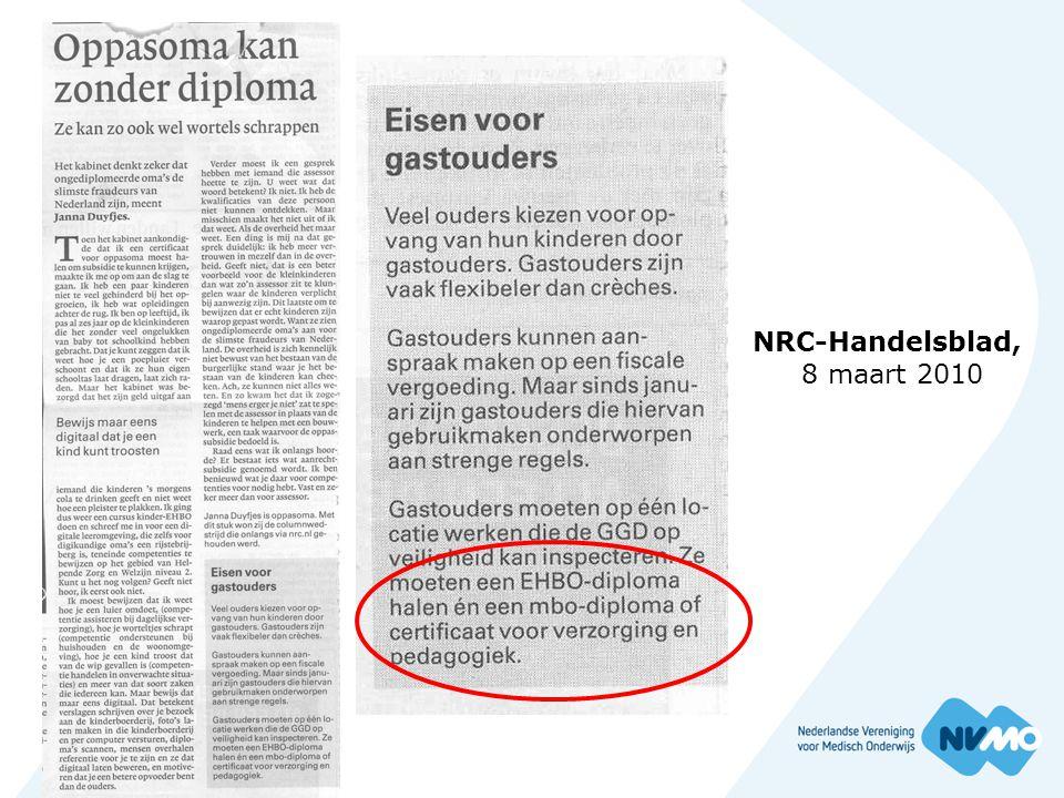 NRC-Handelsblad, 8 maart 2010
