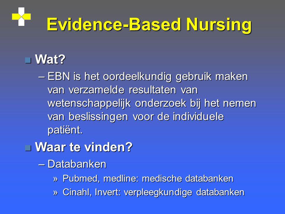 Evidence-Based Nursing n Wat.