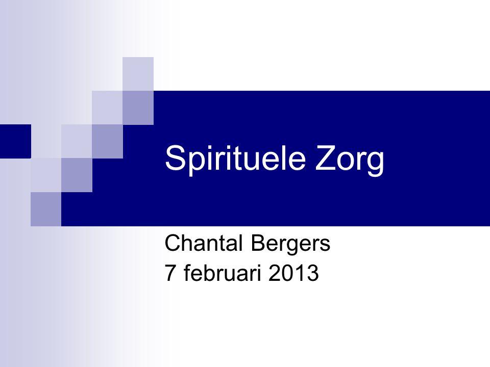 Spirituele Zorg Chantal Bergers 7 februari 2013