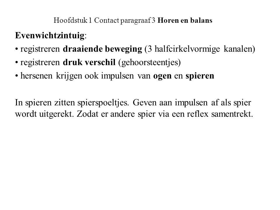 Onderwaterhockey: Hoofdstuk 1 Contact paragraaf 3 Horen en balans Buis van Eustachius Diepte van dit zwembad is 3,70 meter.