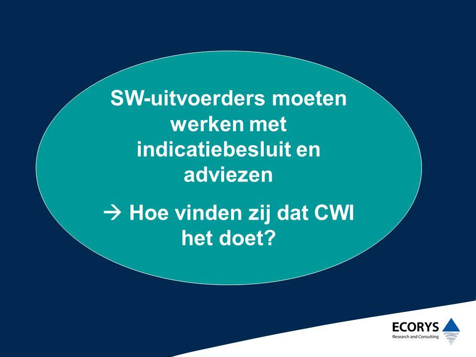Binnen invloedssfeer CWI •Format rapportageformulier •Uniformering managementrapportages