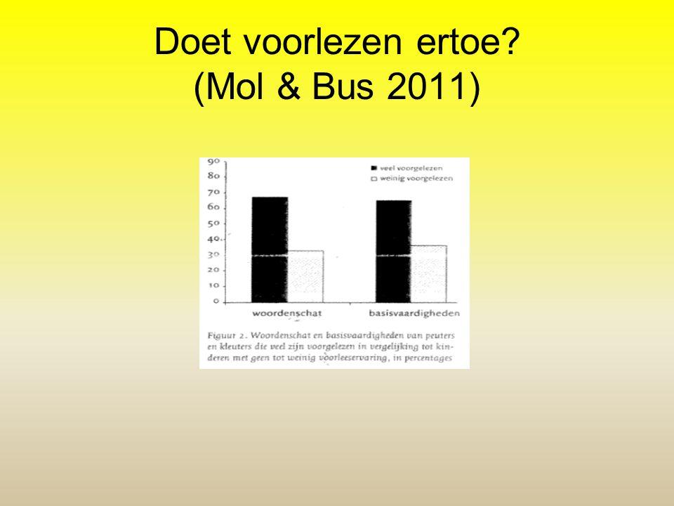 Doet voorlezen ertoe? (Mol & Bus 2011)