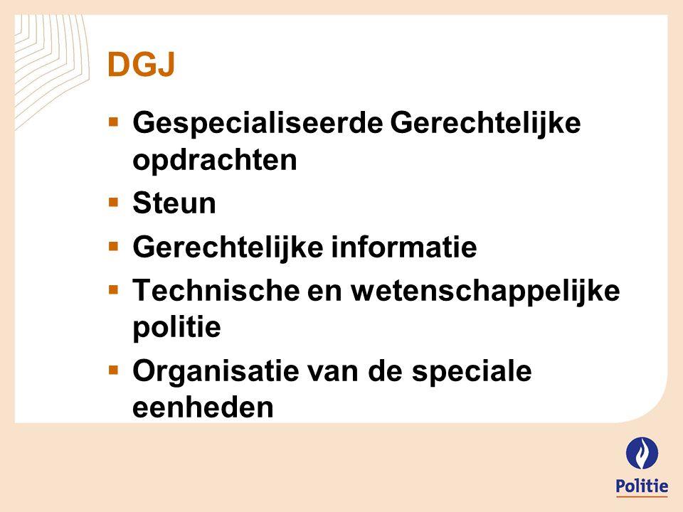DGJ – Centrale diensten  CDGEFID en FCCU  Conceptualisatie  Nationaal contactpunt  Operationele rol (beperkt)  CDBC, FAST en CDBV (Statu Quo)