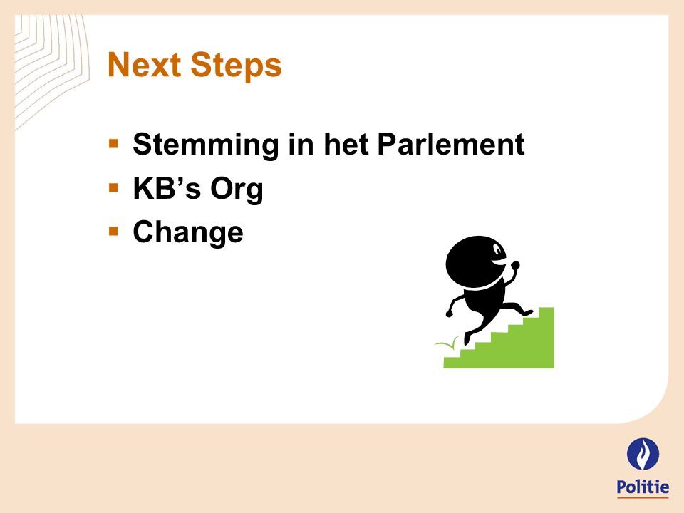 Next Steps  Stemming in het Parlement  KB's Org  Change