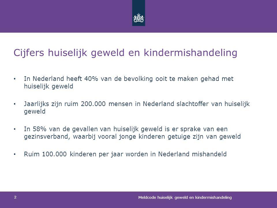 Cijfers huiselijk geweld en kindermishandeling • In Nederland heeft 40% van de bevolking ooit te maken gehad met huiselijk geweld • Jaarlijks zijn rui