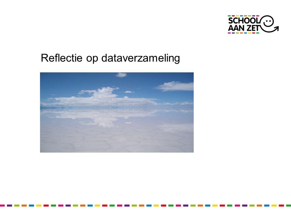 Reflectie op dataverzameling
