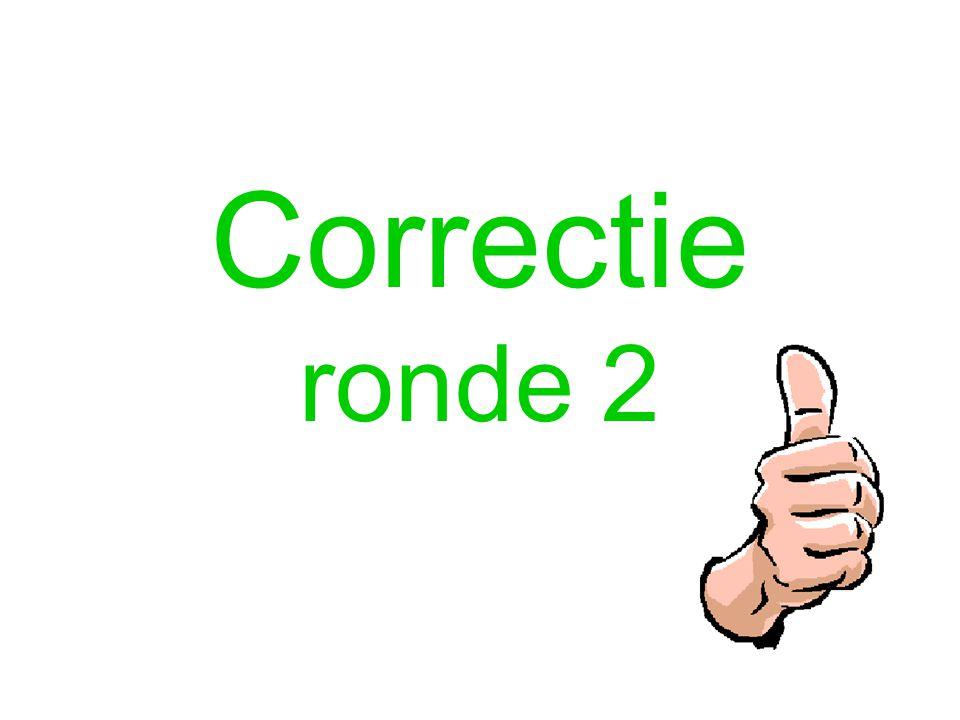 Correctie ronde 2
