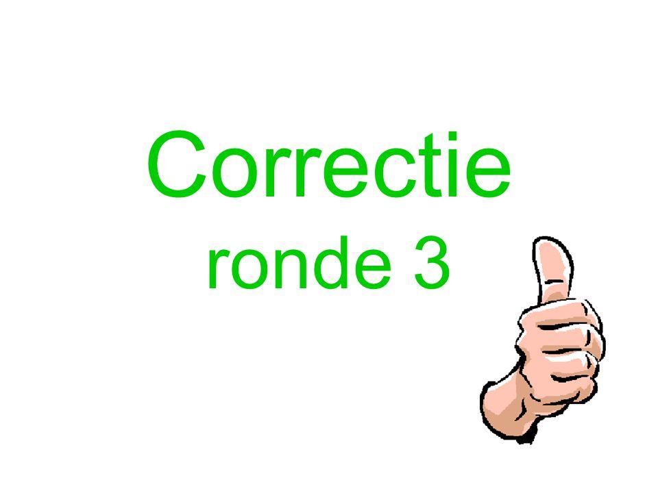 Correctie ronde 3