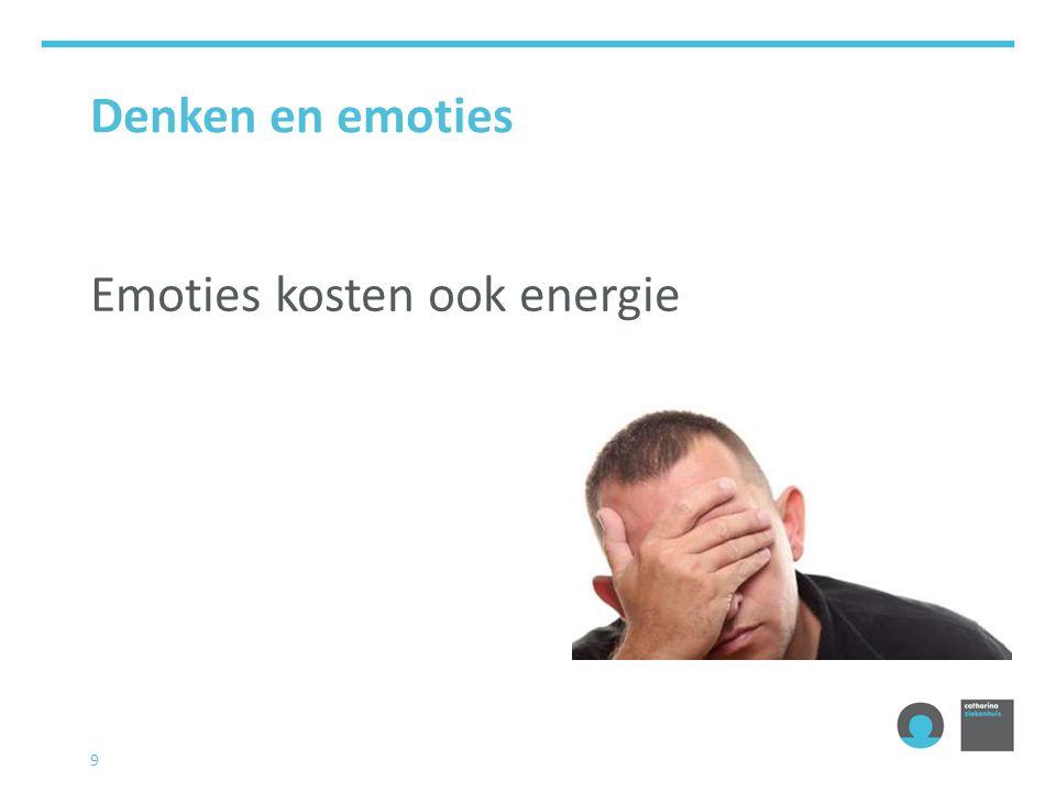 9 Denken en emoties Emoties kosten ook energie