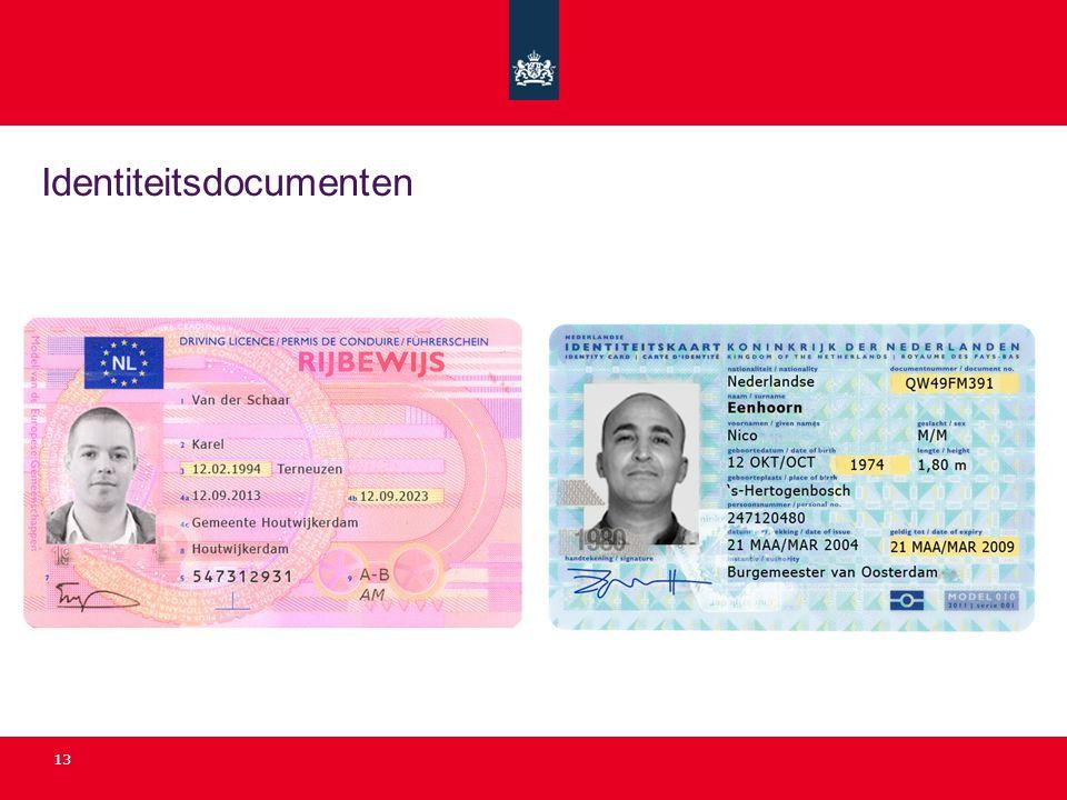 Identiteitsdocumenten 13
