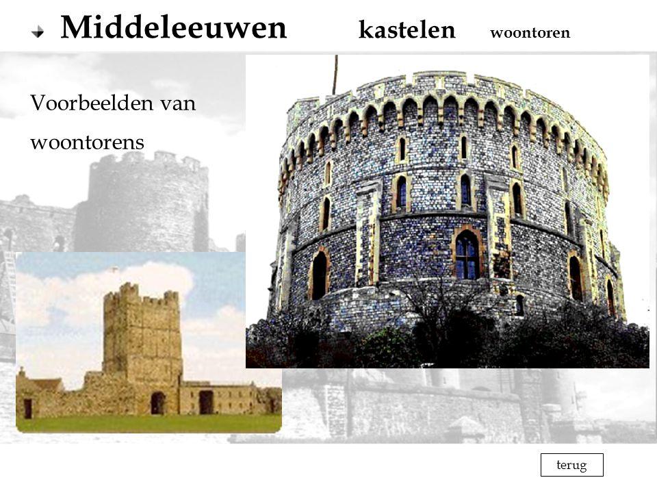 terug Voorbeelden van woontorens Middeleeuwen kastelen woontoren