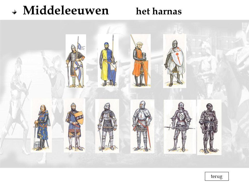 Middeleeuwen het harnas terug