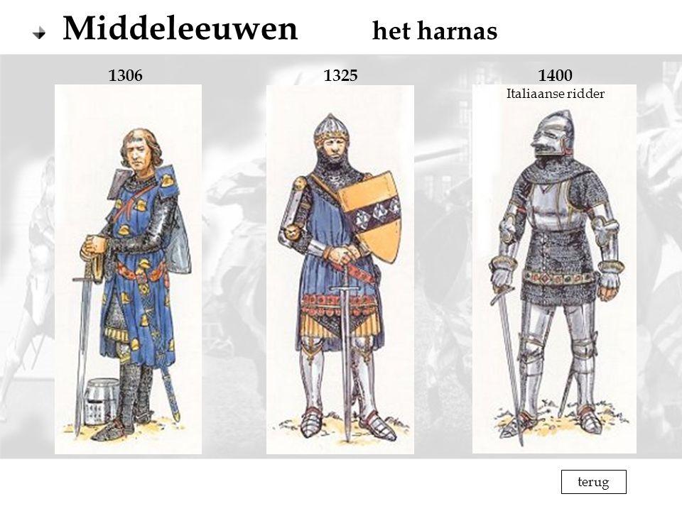 Middeleeuwen het harnas 130613251400 Italiaanse ridder terug