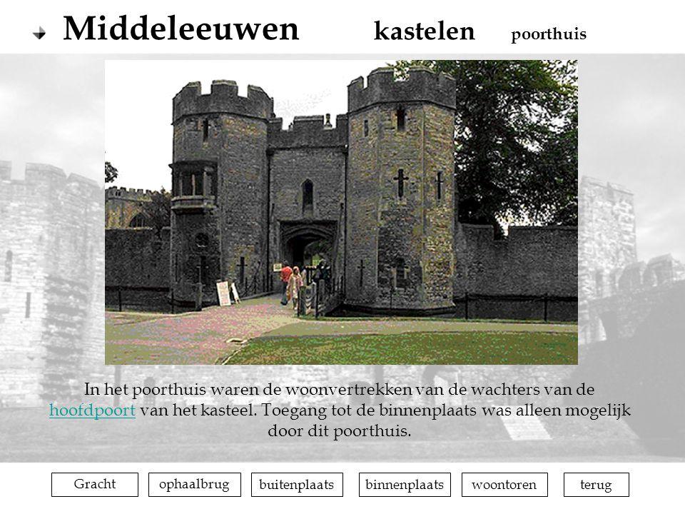 terugophaalbrugGrachtbuitenplaatsbinnenplaatswoontoren In het poorthuis waren de woonvertrekken van de wachters van de hoofdpoort van het kasteel. Toe