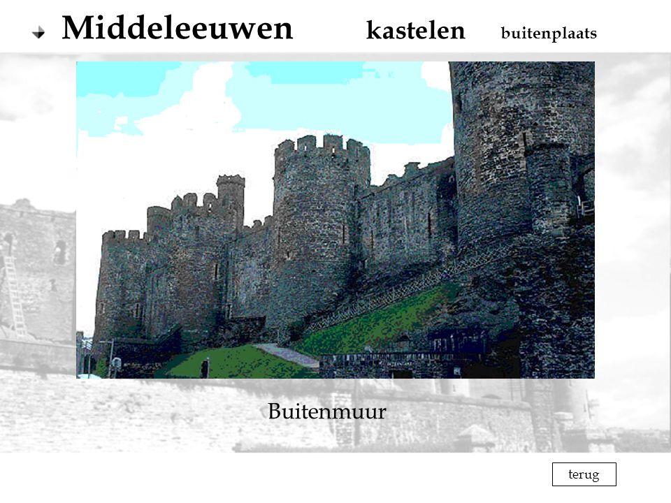 terug Buitenmuur Middeleeuwen kastelen buitenplaats