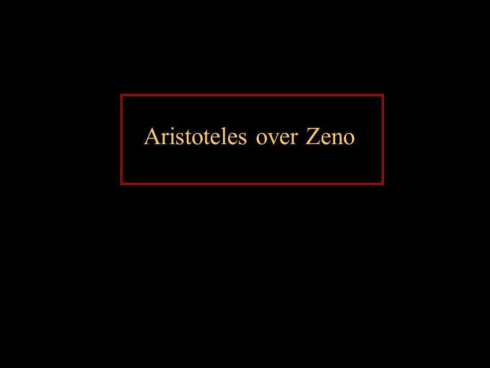 Aristoteles over Zeno