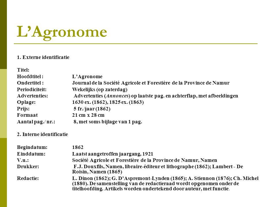 L'Agronome 1.