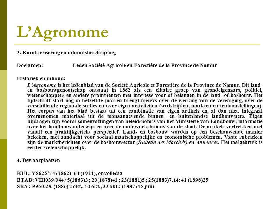 L'Agronome 3.