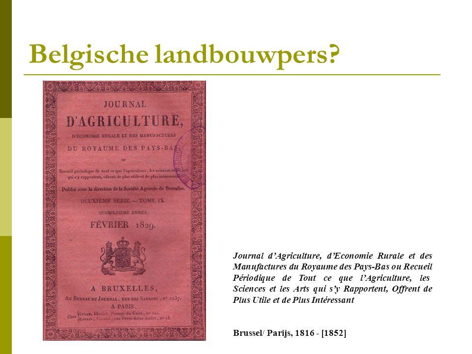 Belgische landbouwpers.