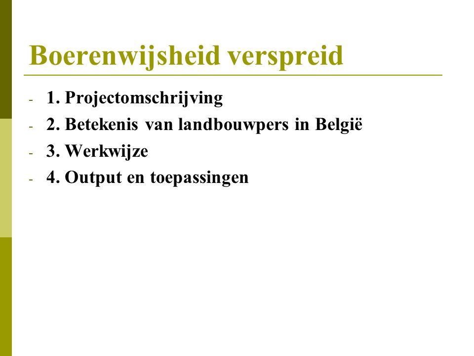 Boerenwijsheid verspreid - 1.Projectomschrijving - 2.