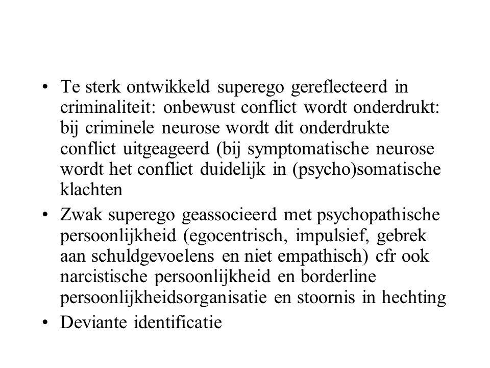 De biologische basis voor persoonlijkheid •I/E : geen systematische verschillen in EEG op corticaal niveau •Geen duidelijke evidentie over het verband tussen extraversie, het zoeken van stimulatie en arousal (Eysenck's theorie over het optimaal niveau van stimulatie is onhoudbaar) •Geen steun voor de relatie tussen N en limbisch systeem •Geen onderzoek over verband tussen P en androgenen