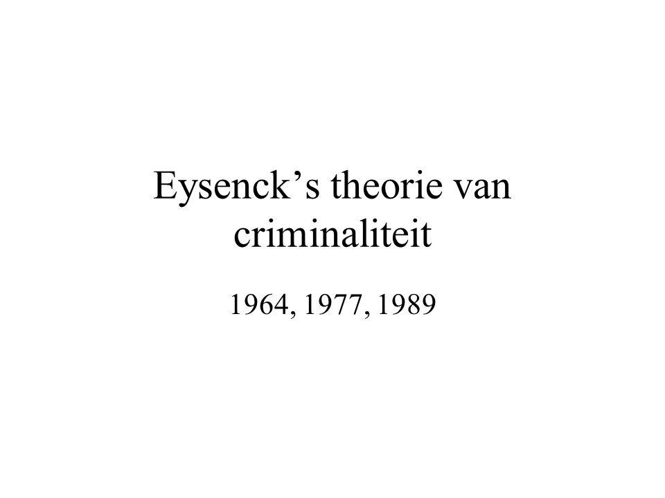 Eysenck's theorie van criminaliteit 1964, 1977, 1989