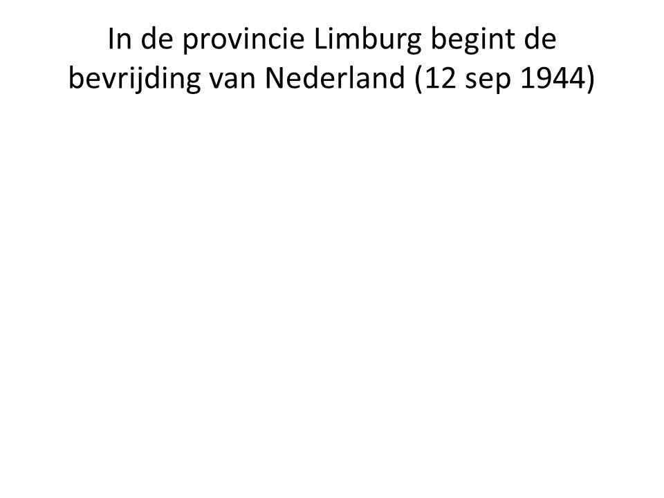 In de provincie Limburg begint de bevrijding van Nederland (12 sep 1944)